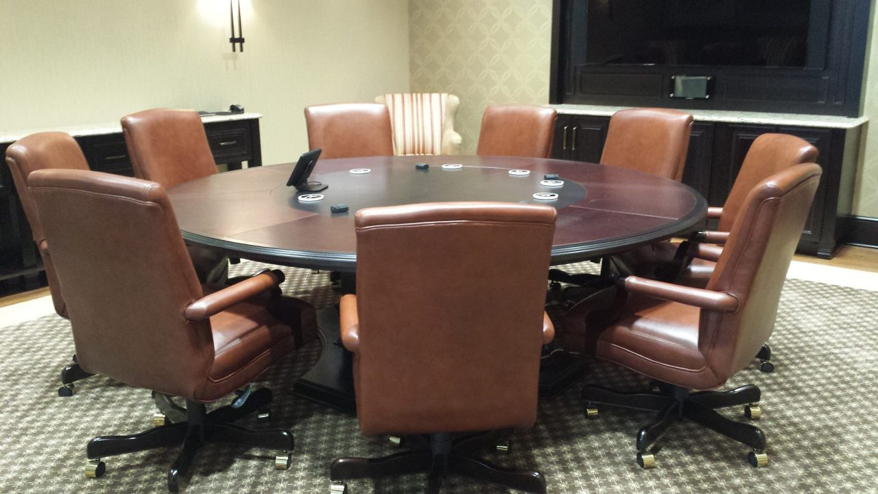 Custom Round Conference Table
